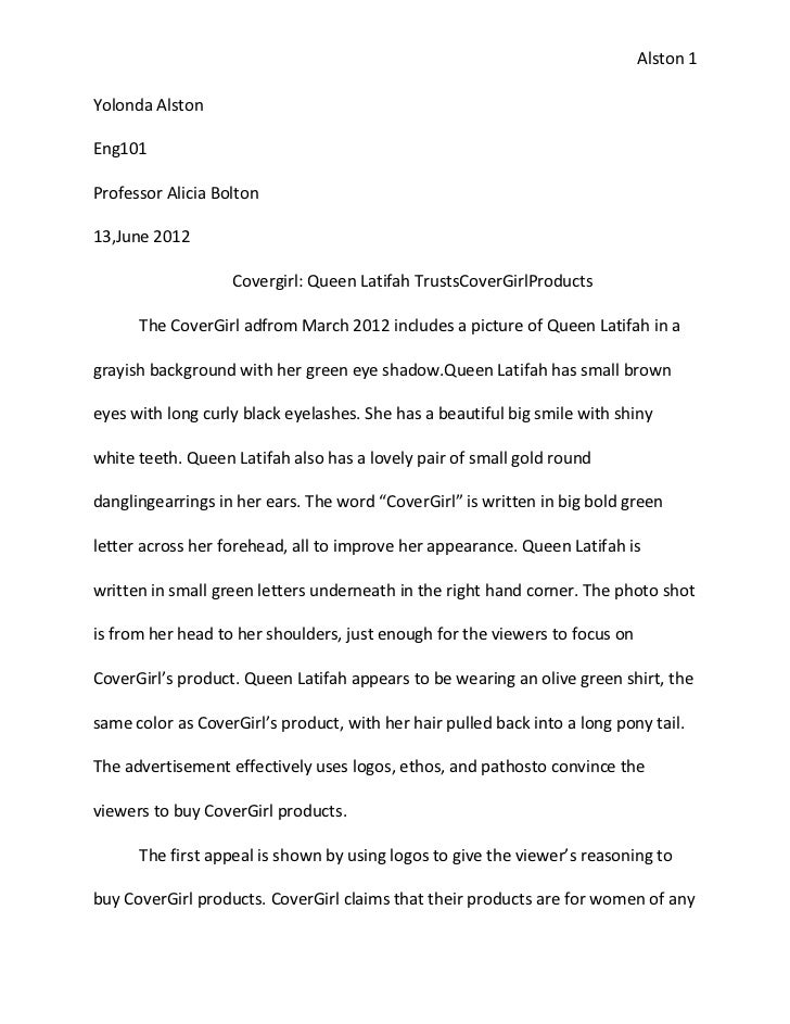 Example Of Essay Cover Sheet