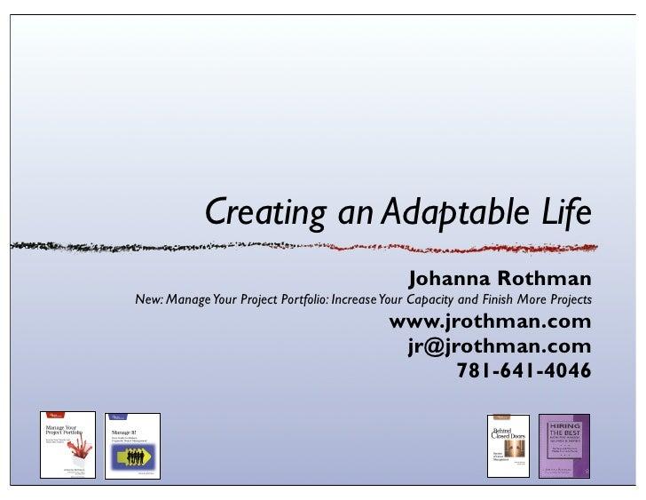Creating an Adaptable Life