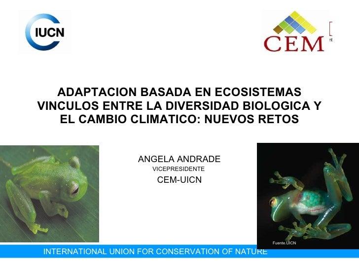 Adaptación basada en ecosistemas - Angela Andrade