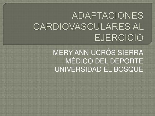 MERY ANN UCRÓS SIERRA MÉDICO DEL DEPORTE UNIVERSIDAD EL BOSQUE