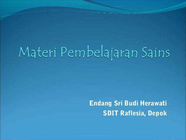 Endang Sri Budi Herawati    SDIT Raflesia, Depok
