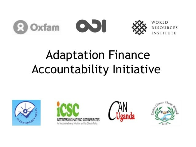 Adaptation FinanceAccountability Initiative