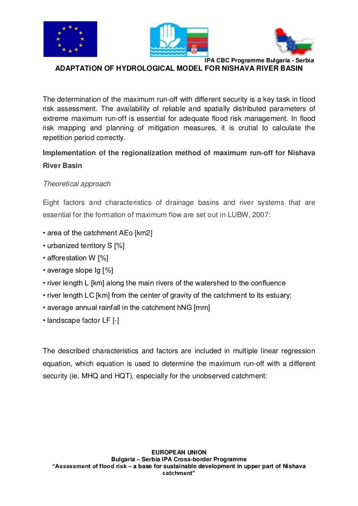 Adaptation hydrological model_en