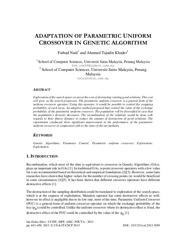 thesis using genetic algorithm Genetic algorithm for solving simple mathematical equality problem denny hermawanto indonesian institute of sciences (lipi), indonesia mail: dennyhermawanto@gmailcom.