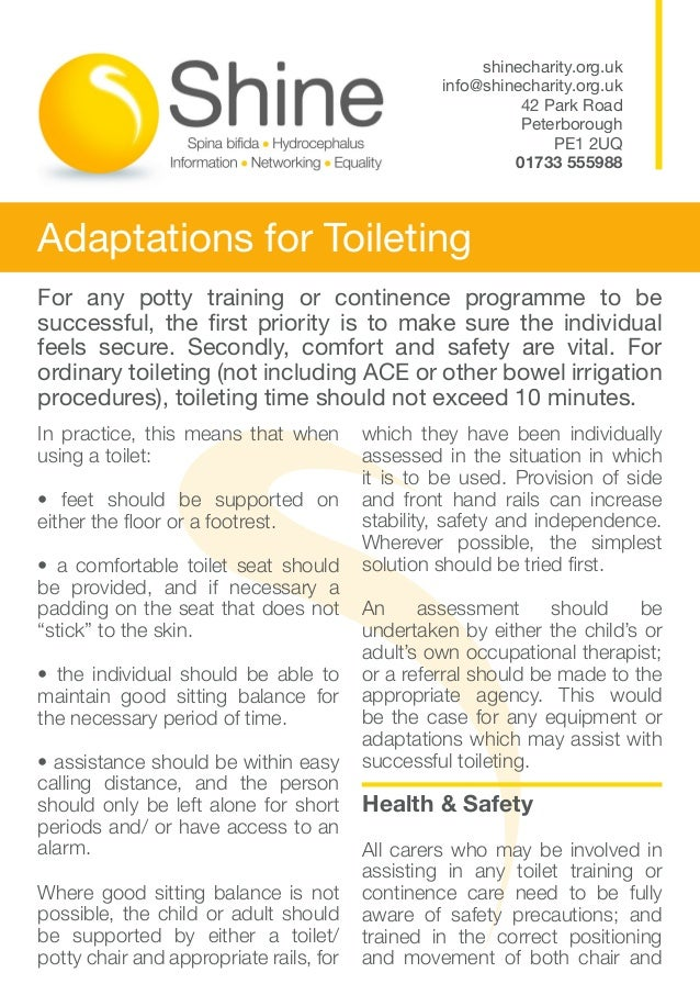 Adaptations for toileting