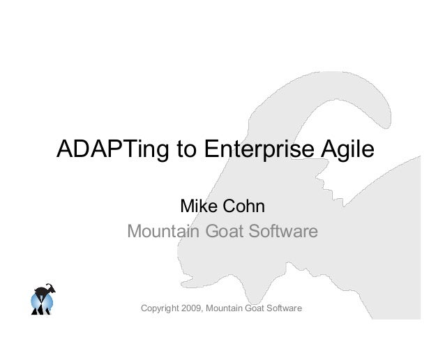 ADAPTing to Enterprise Agile