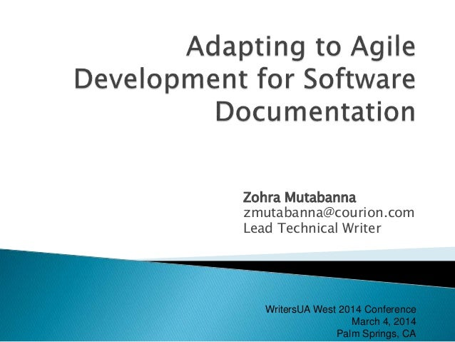 Adapting to Agile Development for Software Documentation