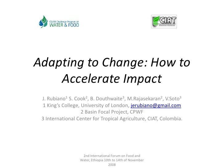Adapting to Change: How to Accelerate Impact