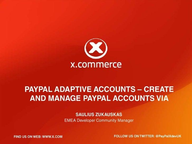 Adaptive accounts webitexpo