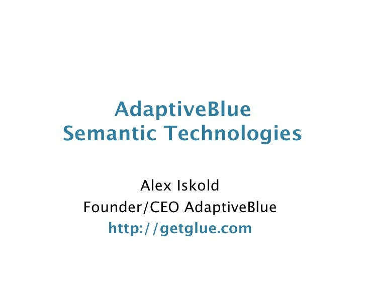 Adaptive Blue Sem Tech Meetup Nyc