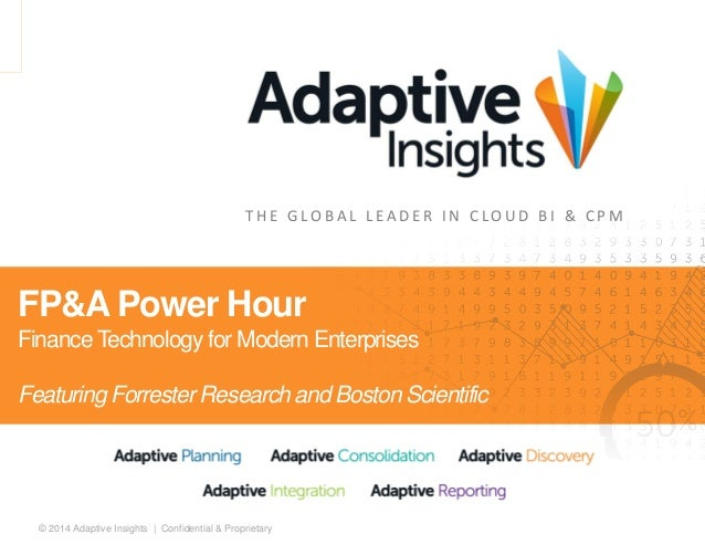 Adaptive insights forrester and boston scientific webinar_final