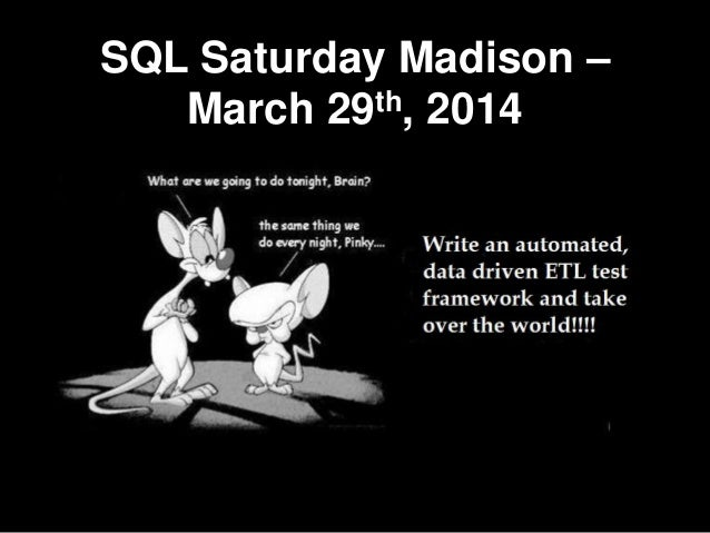 A data driven etl test framework sqlsat madison