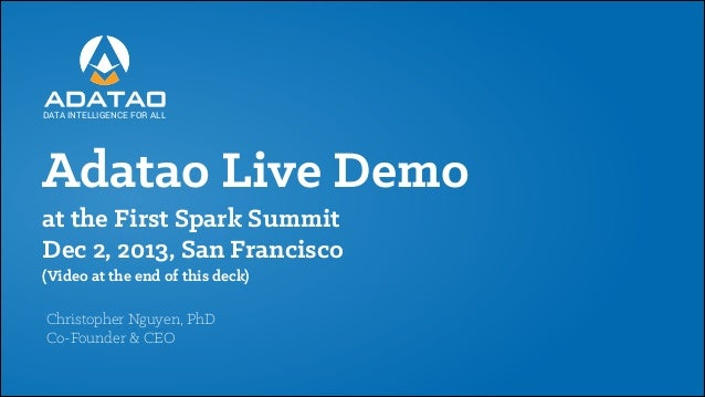 Adatao Live Demo at the First Spark Summit