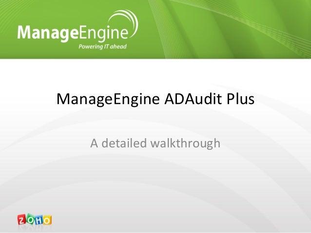 Visão completa do ADAudit Plus