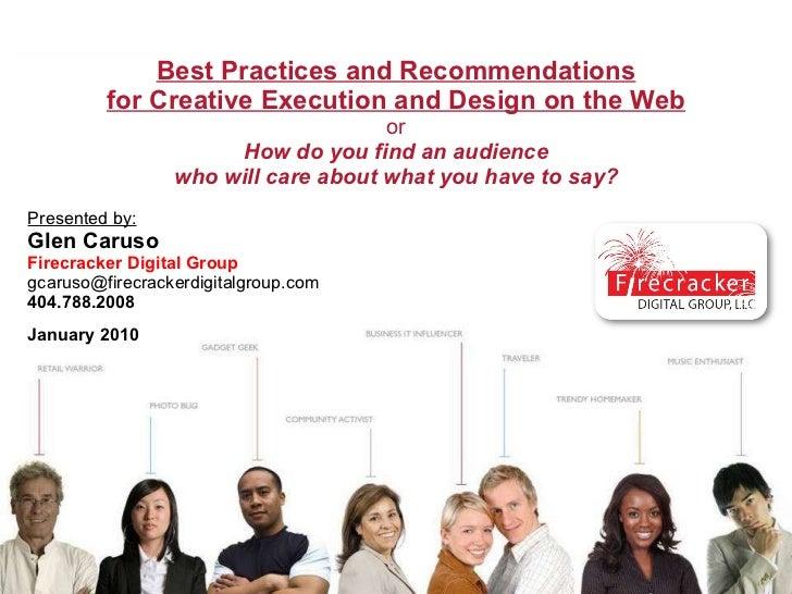 Ad Banner Creation, Execution & Design Techniques   G Caruso
