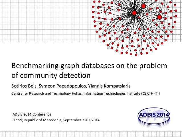 Benchmarking graph databases on the problem  of community detection  Sotirios Beis, Symeon Papadopoulos, Yiannis Kompatsia...