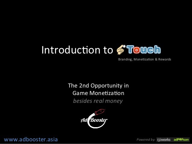 Ad booster  touch  - introduction