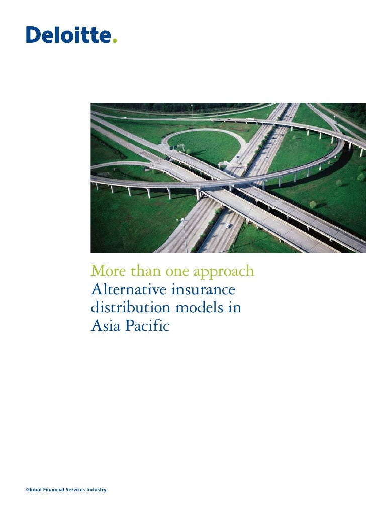 More than one approach                           Alternative insurance                           distribution models in   ...
