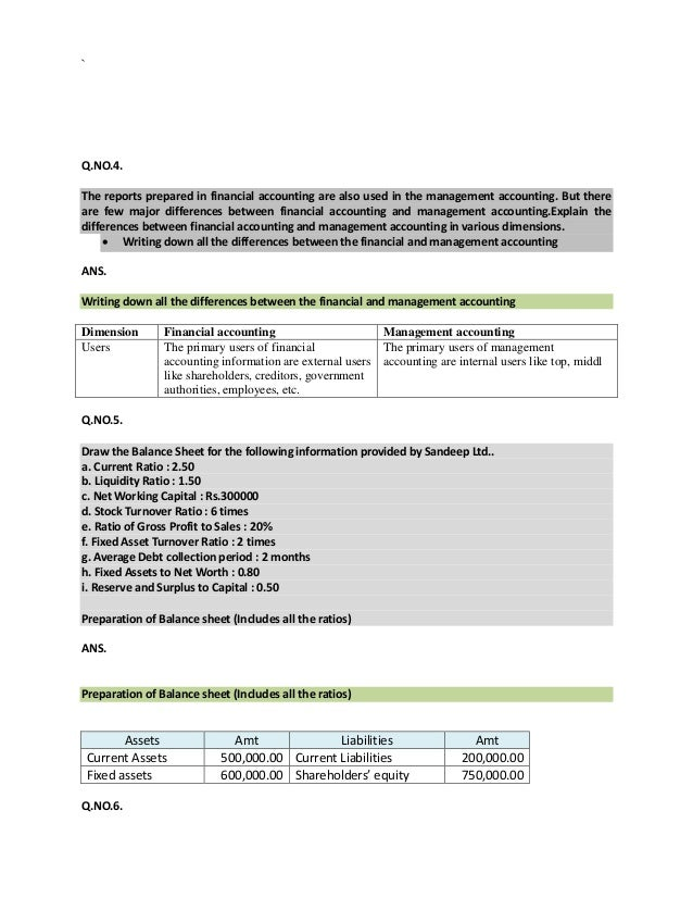 financial and management accounting solved assignment Internal assignment applicable for june  cost & management accounting: financial accounting & analysis: nmims solved assi.