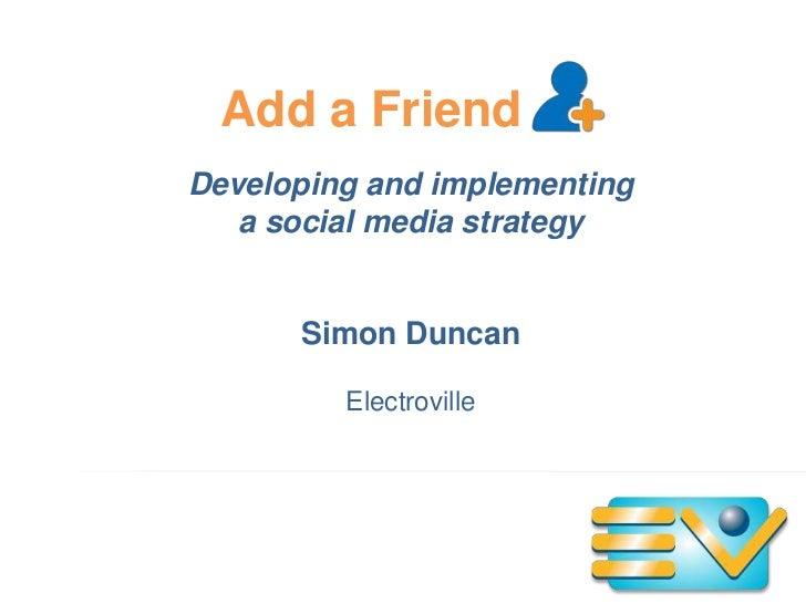 Add a friend workshop presentation