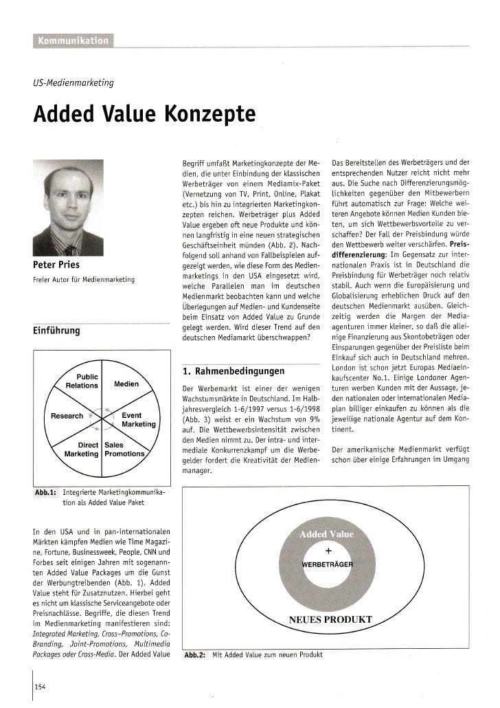 Added Value Konzepte