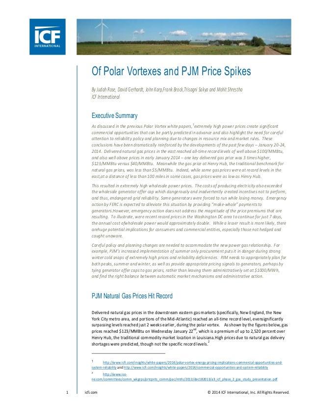 Of Polar Vortexes and PJM Price Spikes By Judah Rose, David Gerhardt, John Karp,Frank Brock,Trisagni Sakya and Mohit Shres...