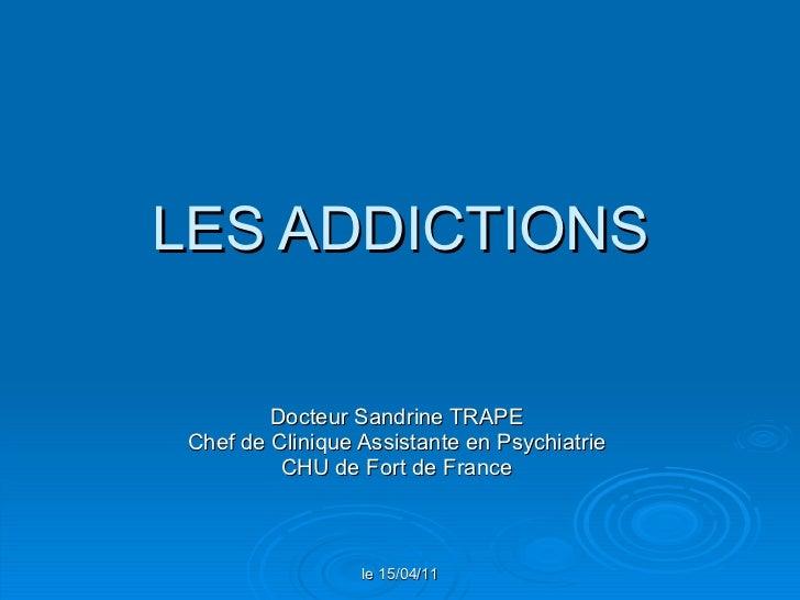 Les addictions - UE7A