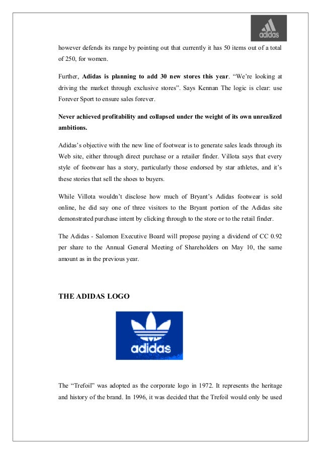 Adidas big tongue management by objectives template for Manage by objective template