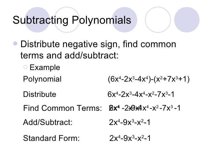 Adding and subtracting polynomials worksheet 3