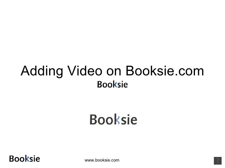 Adding Video on Booksie.com