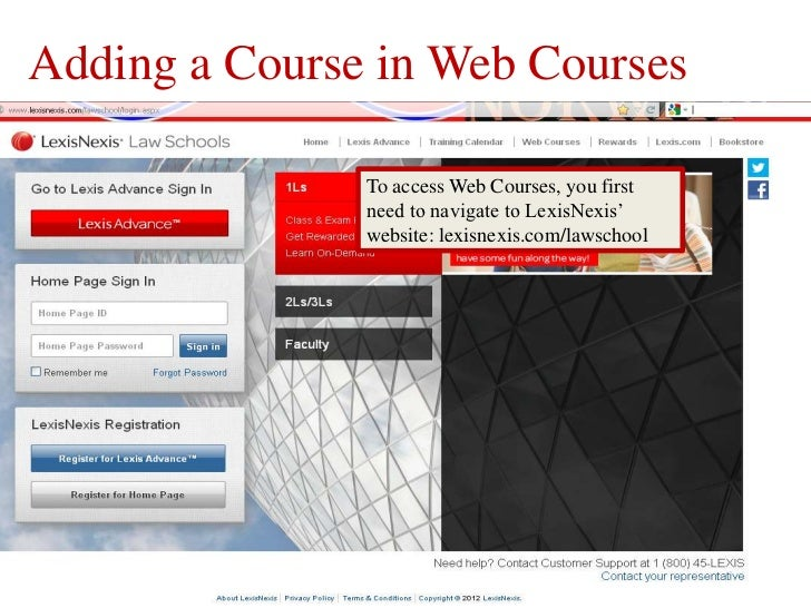 Adding a Course in Web Courses