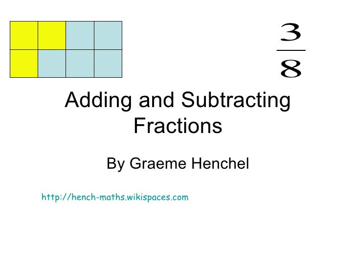 Adding and subtracting fract