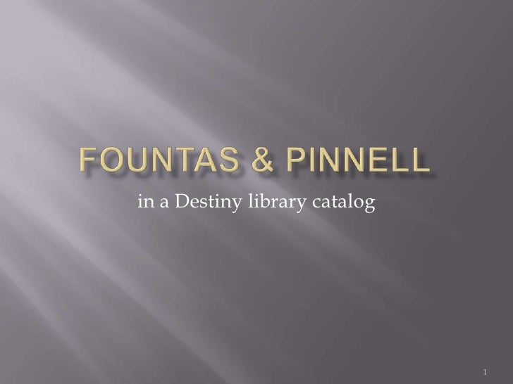 Adding Fountas & Pinnell Levels To Books