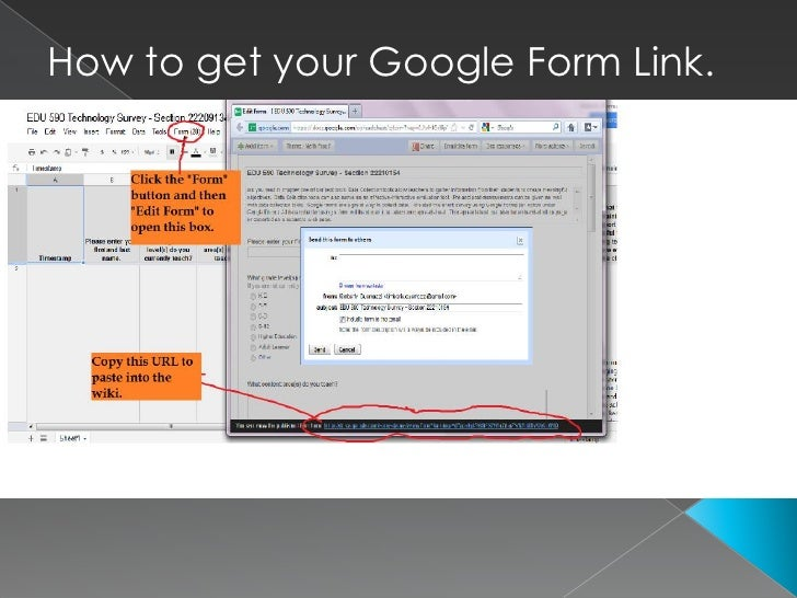 How to get your Google Form Link.