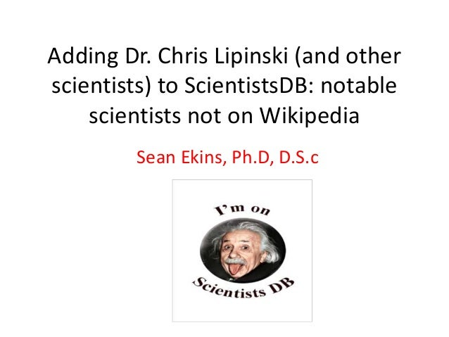Adding lipinski to scientists db