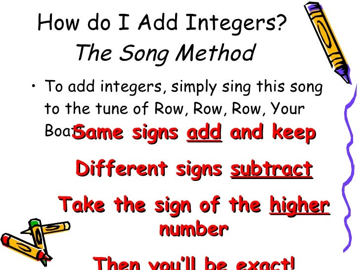 how to teach adding integers