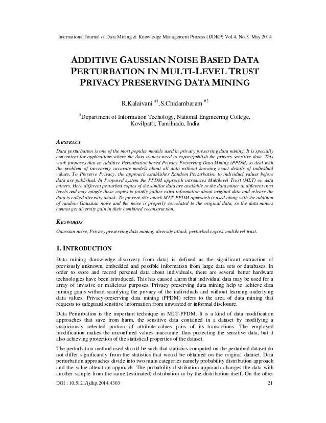 International Journal of Data Mining & Knowledge Management Process (IJDKP) Vol.4, No.3, May 2014 DOI : 10.5121/ijdkp.2014...