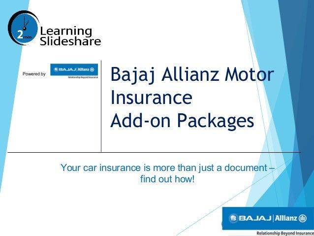 Bajaj Allianz Motor Insurance Add On Packages