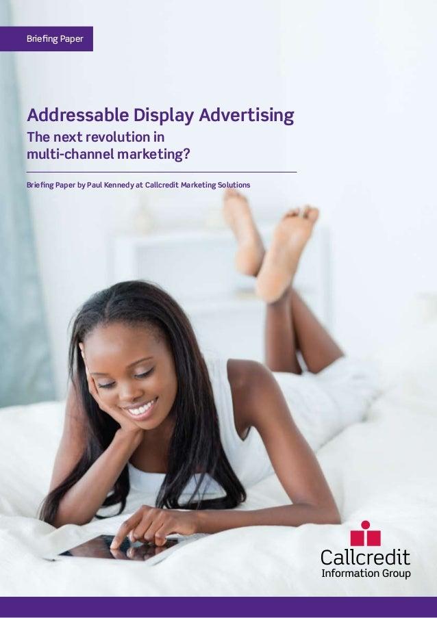 Addressable display advertising