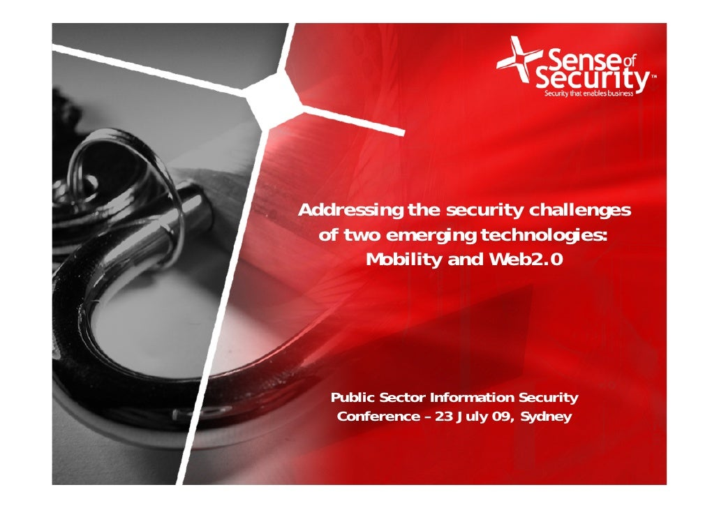 Addressing the security challenges                                    of two emerging technologies:                       ...