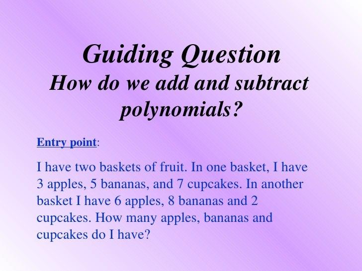 Addsub Polynomials