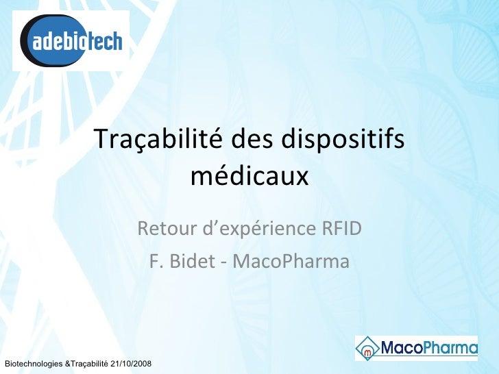 Traçabilité des dispositif Medicaux