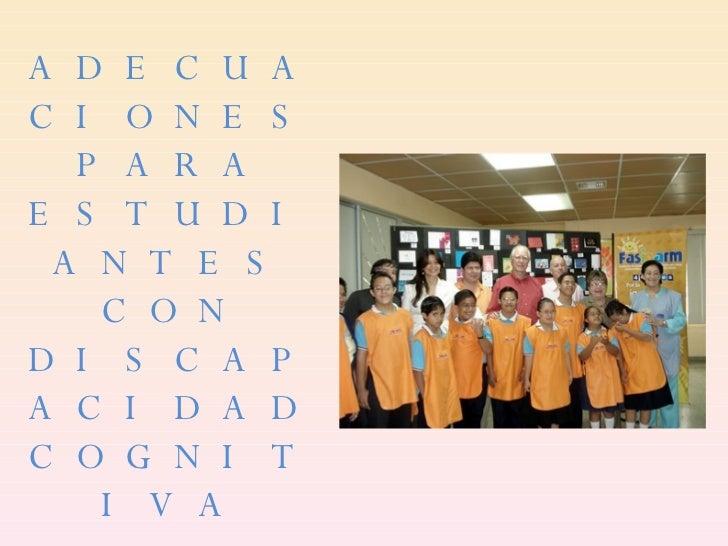 .Adecuaciones Para Estudiantes Con Discapacidad Cognitiva