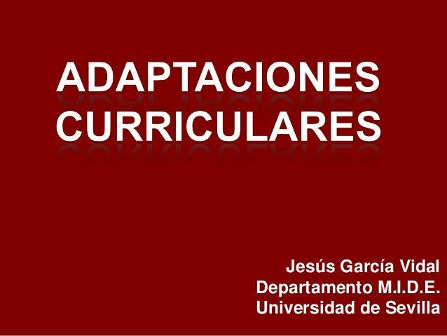Jesús García VidalDepartamento M.I.D.E.Universidad de Sevilla