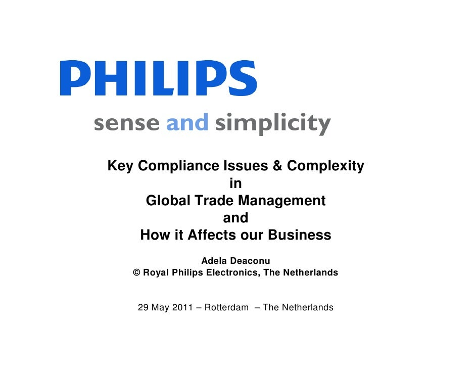 Export Compliance Management Seminar 29 May 2012: Key Issues & Complexity in Global Trade Management and How It Affects Your Business