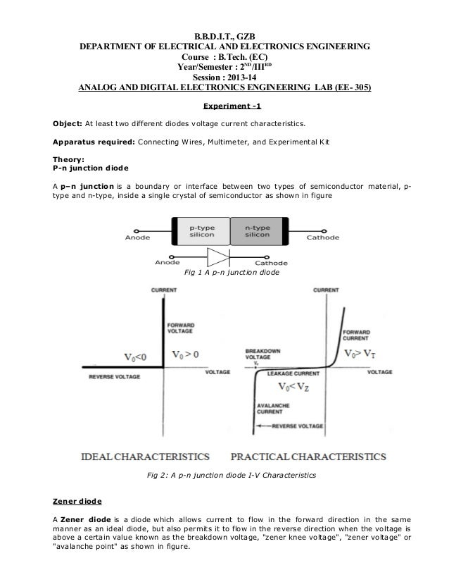 B.B.D.I.T., GZB DEPARTMENT OF ELECTRICAL AND ELECTRONICS ENGINEERING Course : B.Tech. (EC) Year/Semester : 2ND/IIIRD Sessi...