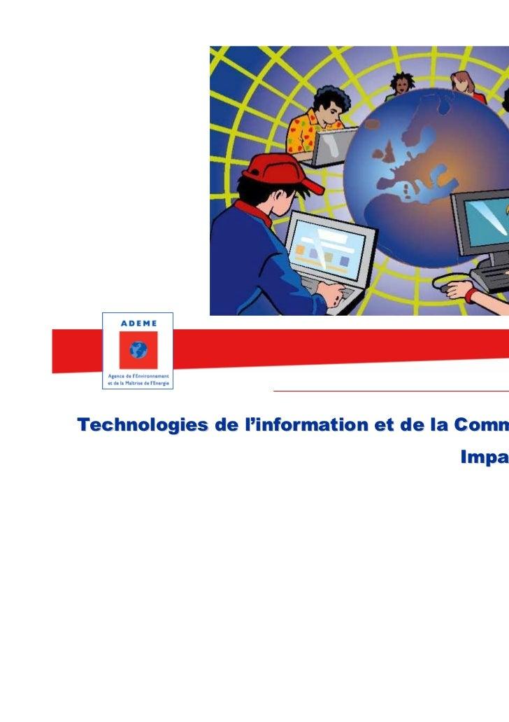 Technologies de l'information et de la Communication (TIC)                                     Impacts et solutions
