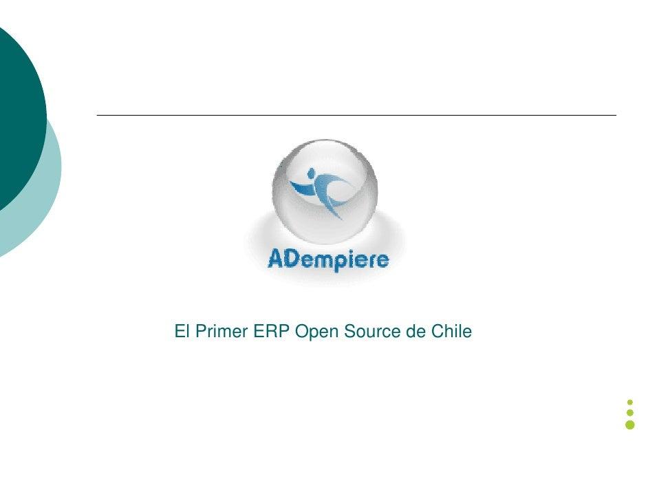 El Primer ERP Open Source de Chile