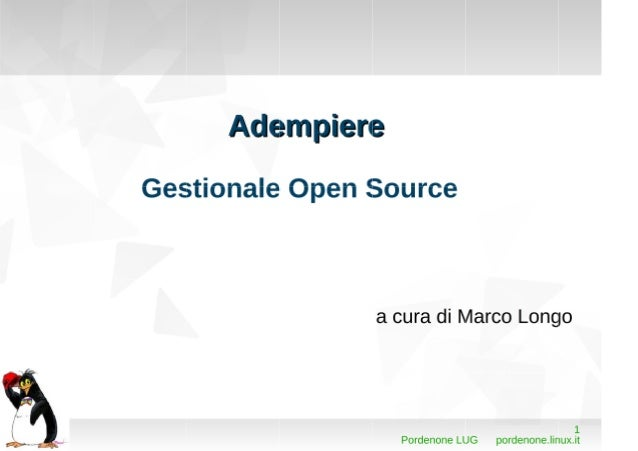 ADempiere Gestionale Open Source