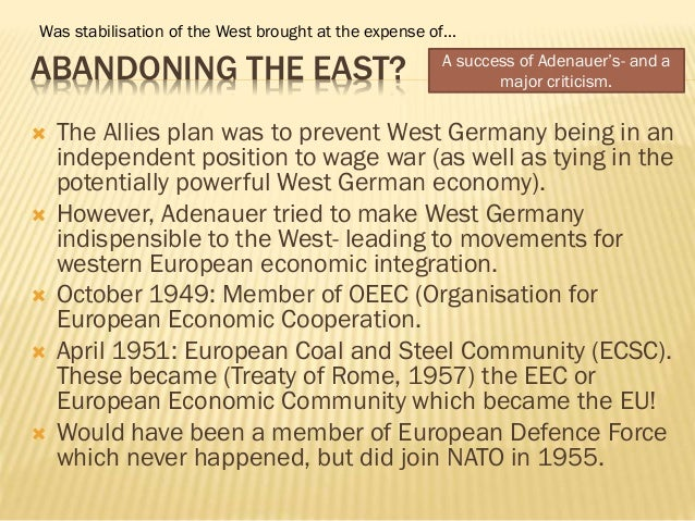 relations between east and west germany in 1969 essay At the instigation of the soviet military administration the demarcation line between east and west germany is gorbachev to tear down the berlin wall.